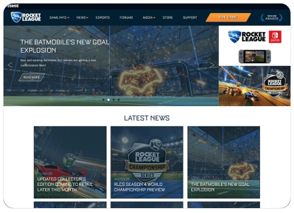 Rocket League Website Redesign