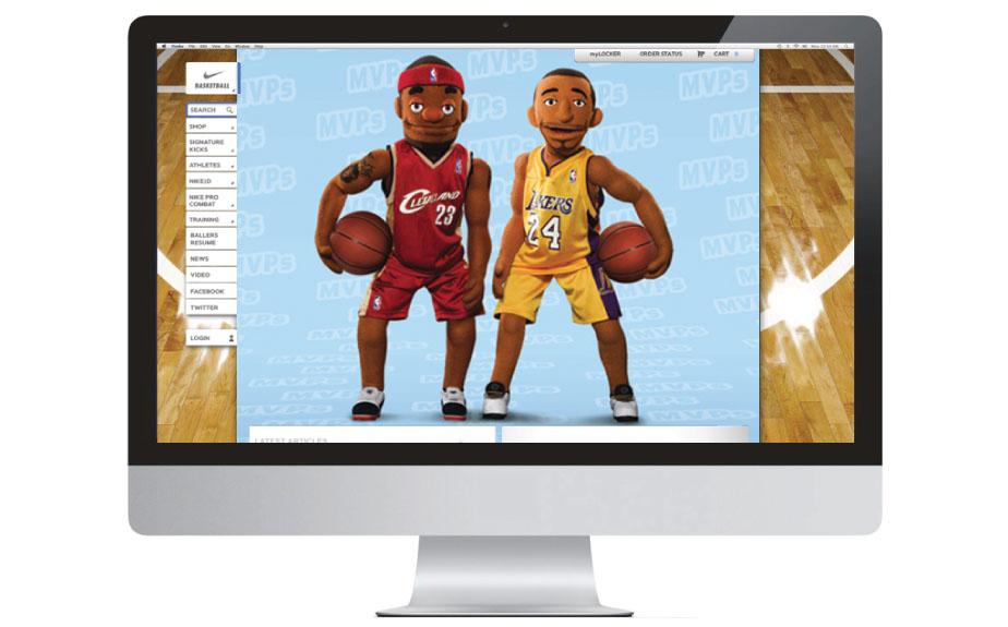 Nike Basketball Website Creative