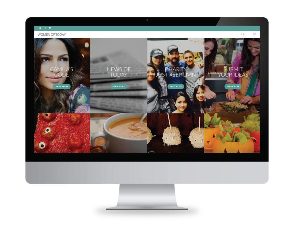 Women of Today Website Creative
