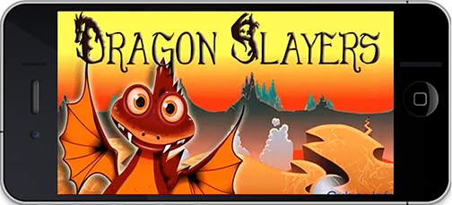 Dragon Slayers Mobile App Design Example