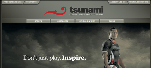 tsunami website design example