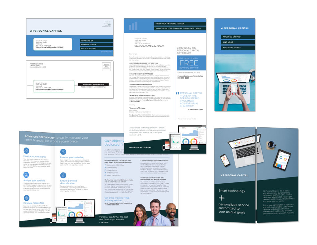 Gunderson Direct, Personal Capital Direct Mail Example