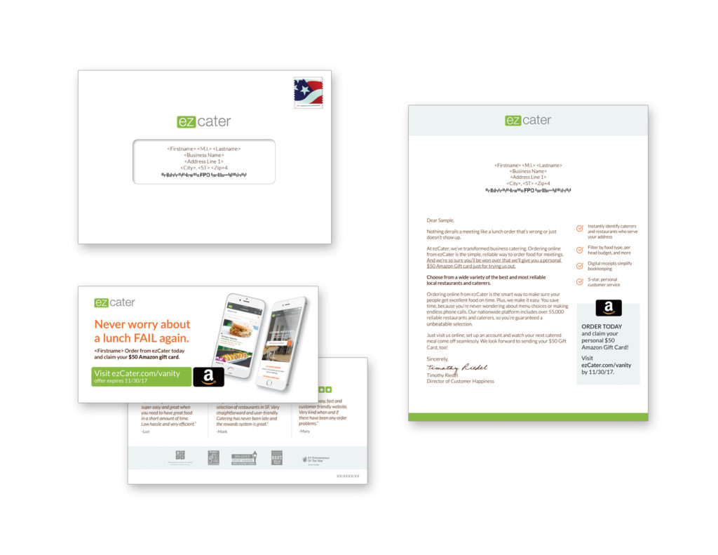 Gunderson Direct, ez Cater Direct Mail Example